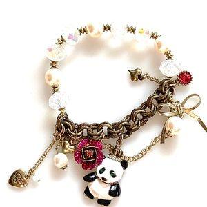 Betsey Johnson Panda Bear Bracelet